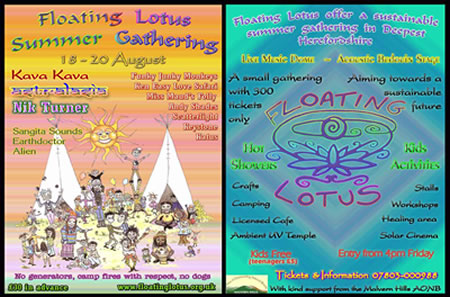poster for Floating Lotus Summer Gathering